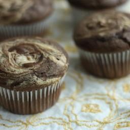 Chocolate peanut butter swirl muffins