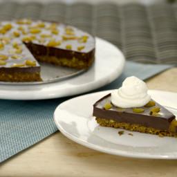 Chocolate-Pistachio Fudge Tart