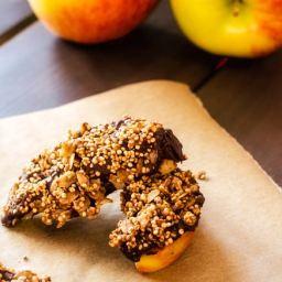 Chocolate Quinoa Apple Wedges
