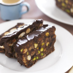 Chocolate Slice with Almonds & Pistachio Nuts