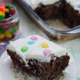 Chocolate Tres Leches Cake with M and M'S®