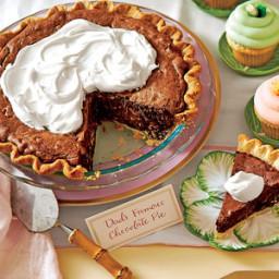 Chocolate Truffle Pie with Amaretto Cream (Dad's Famous Chocolate Pie)