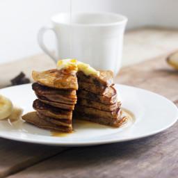 Chocolate Chip Espresso Pancakes {Gluten-free, dairy-free}
