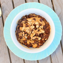 Chocolate Peanut Butter Oatmeal (GF, SF, Vegan)