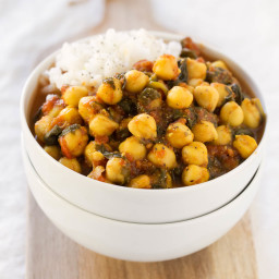Chole Palak (Spinach with Chickpeas)