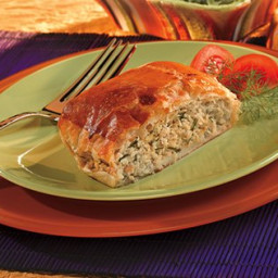 Chopped Chicken with Dill en Croute