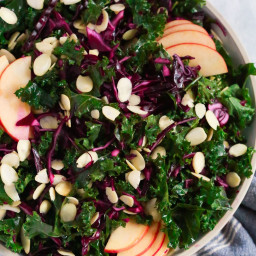 Chopped Red Cabbage Kale Salad