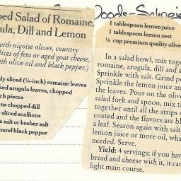 Chopped Salad of Romaine, Arugula, Dill, and Lemon