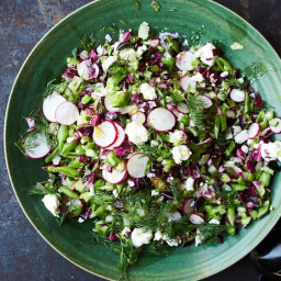 Chopped Salad with Shallot Vinaigrette, Feta, and Dill