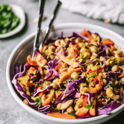 Chopped Thai Chickpea Salad with Curry Peanut Dressing