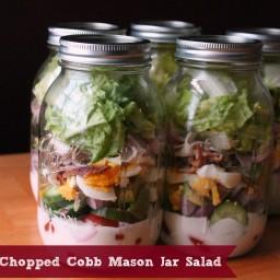 Chopped Cobb Mason Jar Salad