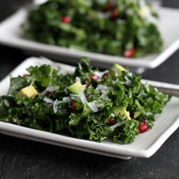 Kale with Pomegranate & Avocado