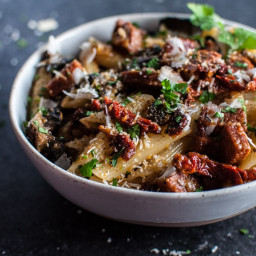 Chorizo Pasta with Mushrooms and Sun-dried Tomatoes