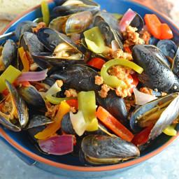 Chorizo PEI Mussels