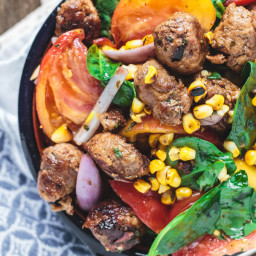 Chorizo Tomato and Charred Corn Salad