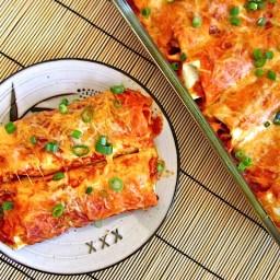 chorizo & sweet potato enchiladas