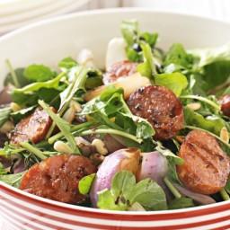Chorizo, rocket and red onion salad