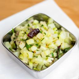 Chow Chow Poriyal (Thoran) / Vegan Chayote Squash Stir-fry
