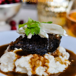 Christmas Dinner Short Ribs with Pear and Celery Salad
