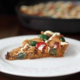 Christmas Fruitcake Chocolate Chip Skillet Cookie