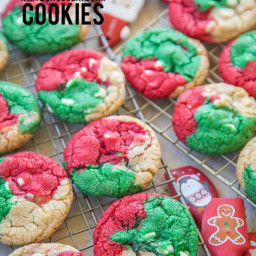 Christmas White Chocolate Chip Cookies