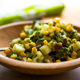 Chunky Avocado-Papaya Salsa