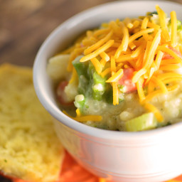 Chunky Cheesy Broccoli Cauliflower Soup
