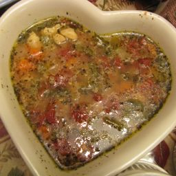 Chunky Chicken Soup, Mediterranean Style