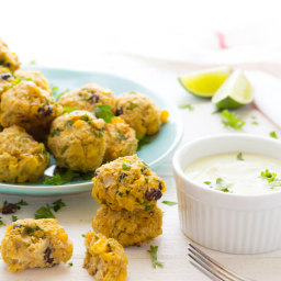 Chunky Corn and Black Bean Baked Falafels