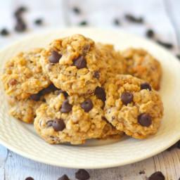 Chunky Dark Chocolate Coconut Oat Cookies