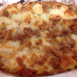 chunky sausage pasta bake