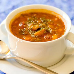 Chunky Vegetable Lentil Soup (Gluten-Free, Vegan)
