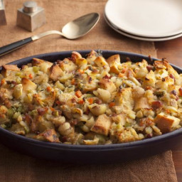 Ciabatta Stuffing with Chestnuts and Pancetta