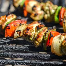 Cilantro-and-Lime Marinated Chicken Fajita Kebabs Recipe