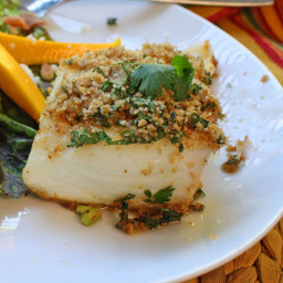 Cilantro Halibut