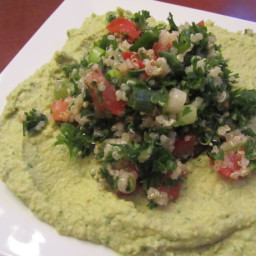 Cilantro-Jalapeno Hummus and Tabouli (A La Pita Jungle)