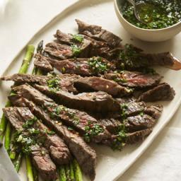 Cilantro-Lime Chimichurri Grilled Steak