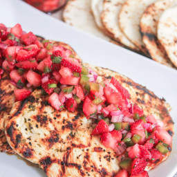 Cilantro-Lime Grilled Chicken with Strawberry-Jalapeño Salsa
