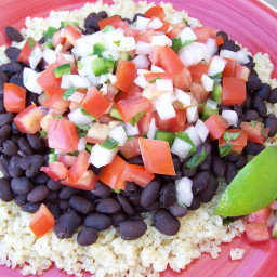 Cilantro-Lime Infused Quinoa with Black Beans
