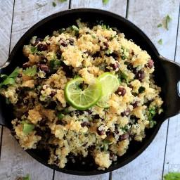 Cilantro Lime Quinoa with Black Beans