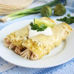Cilantro Sour Cream Enchiladas