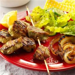 Cilantro  and  Lemon Marinated Chicken Kabobs Recipe