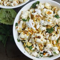 Cilantrop-Lime Popcorn