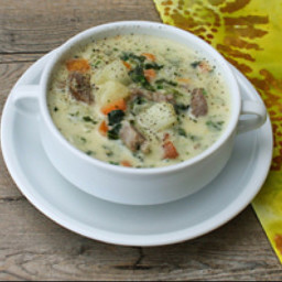 Cindy's Sausage Potato Kale Soup