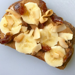 Cinnamon Almond Butter Toast with Banana and Coconut