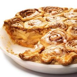 Cinnamon Bun Apple Pie