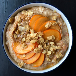 Cinnamon Oats with Persimmon & Almond Butter