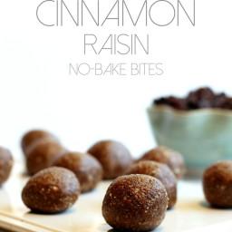 Cinnamon Raisin No-Bake Bites