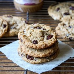 Cinnamon Raisin Peanut Butter Oatmeal Cookies