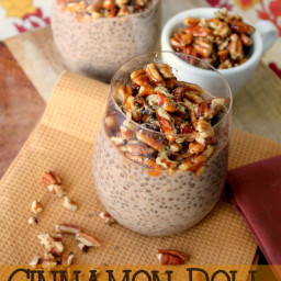 Cinnamon Roll Protein-Packed Chia Pudding